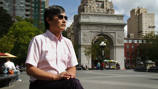 Chinese lawyer and human rights activist Chen Guangcheng.